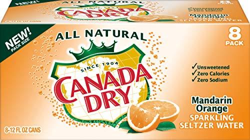 - Canada Dry Mandarin Orange Sparkling Seltzer Water, 12 fl oz cans, 8 count