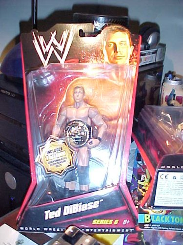 GOLD BELT Ted DiBiase Includes individual numbered 1 of 1000 Gold Championship Belt From Series 6 (Ted Wwe Figure Dibiase)