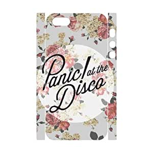 YUAHS(TM) Personalized 3D Hard Back Phone Case for Iphone 5,5S with Panic at the Disco YAS420408