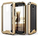 Zizo ION Series compatible with LG Stylo 3 Case Military Grade Drop Tested with Tempered Glass Screen Protector LG Stylo 3 Plus GOLD CLEAR