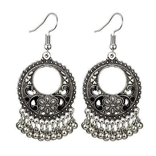Molyveva Chandelier Earrings Womens Bohemia Classical Fringed Drop Tassels Hook Dangle Indian Earrings
