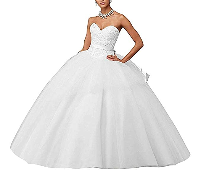 860f57e8a XUYUDITA Lace Appliques Ball Gown Vestido de Fiesta de Noche Beading  Sequined Quinceanera Vestidos de Largo  Amazon.es  Ropa y accesorios