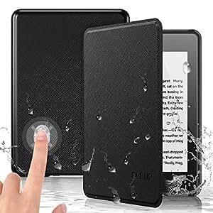 PREUP Funda para Kindle Paperwhite, (10.ª generación, 2018 Release), Carcasa de Cuero Fina y Ligera Sintético con Función de Auto-Reposo/Activación, ...