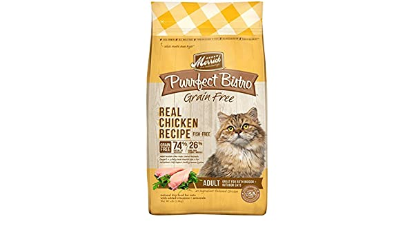 Amazon.com : Merrick Purrfect Bistro Healthy Adult Chicken - 4lb : Pet Supplies
