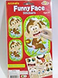 Monkey Funny Animal Face Stickers 1 set