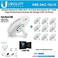 Ubiquiti NBE-5AC-19 10-PACK 5GHz NanoBeam AC 19dBi Airmax AC Bridge CPE airOS