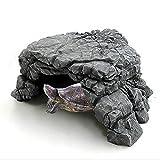 Mokook Reptile Basking Ramp for Tortoise Turtle Hide, Habitat and Aquarium Decor, 5.5 x 5.3x 2.55(LWH)