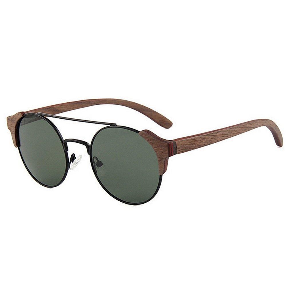 184ea5d823 Gafas de sol calidad de conduce Gafas madera polarizadas de los hombres de  la personalidad hechas a mano Gafas de sol de marco de metal de alta  calidad ...