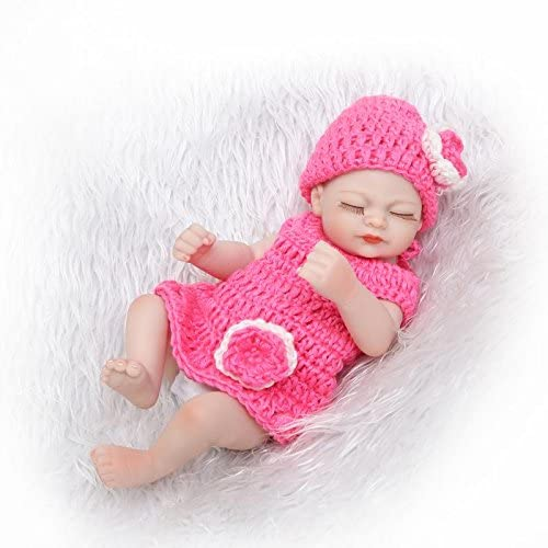 "Full Body Silicone Reborn Preemie Baby Girl Doll 10/"" Real Life Sleeping Babies"