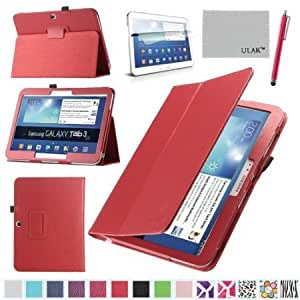 Quaroth Pandamimi ULAK(TM) Folio Slim PU Leather Cover Case for Samsung Galaxy Tab 3 10.1 P5200 P5210 Book Style Stand...