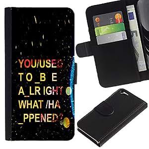 NEECELL GIFT forCITY // Billetera de cuero Caso Cubierta de protección Carcasa / Leather Wallet Case for Apple Iphone 6 // Psychedelic Guión