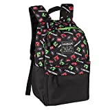 JINX Minecraft 16'' Scatter Creeper Kids Backpack for School, Camping, Travel, Outdoors & Fun (Black, N/A)