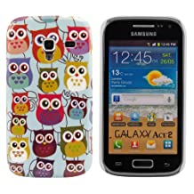 kwmobile Hard case Design owls family for Samsung Galaxy Ace 2 in multicolor dark pink mint