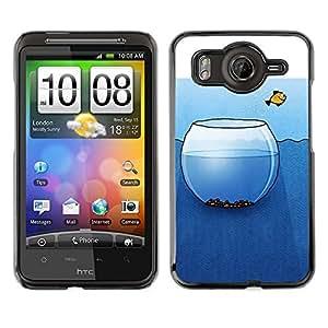 Cubierta de la caja de protección la piel dura para el HTC DESIRE HD / G10 - metaphor art deep freedom liberty