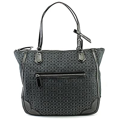 coach poppy tote in signature c metallic outline fabric rh lcpowerbuy com