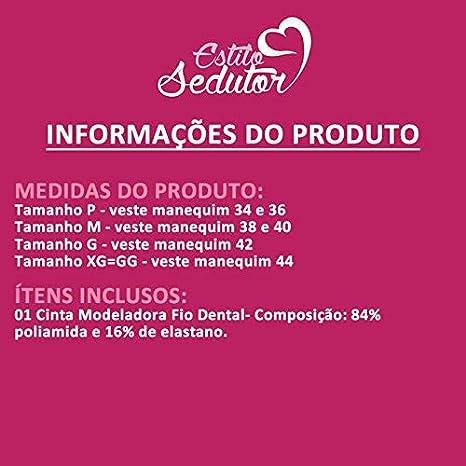 ce7091043 Cinta Modeladora Abdominal Fio Dental Pós Cirúrgica Castanho ou Bege -  TV4069  Amazon.com.br  Amazon Moda
