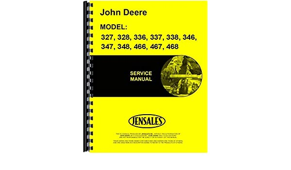 Amazon com: John Deere 328 Square Baler Service Manual: Home