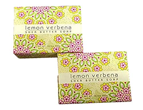 (Greenwich Bay Trading Company Set of Two 10.5 oz Shea Butter Soap Bars (Lemon Verbena))
