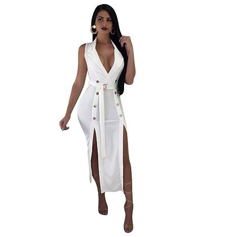 Amazon.com: Lucy - Vestido de verano para mujer, escote en V ...
