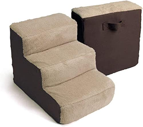Cozy Pet Lightweight Pet Stairs for Dogs Cats 3 Steps for High Beds and Couches Machine Washable Cover Multiple Colors