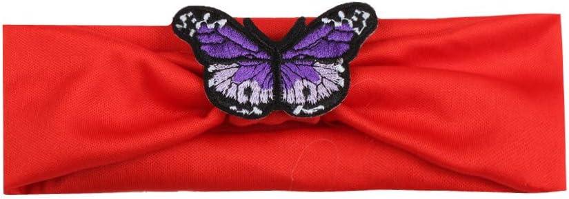 Yukong Children Baby Girls Butterfly Boho Headband Soft Headwear Hair Accessories