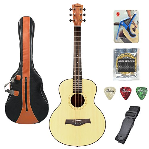 Acoustic Guitar 36 Inch Classical Travel Guitar Bundle with