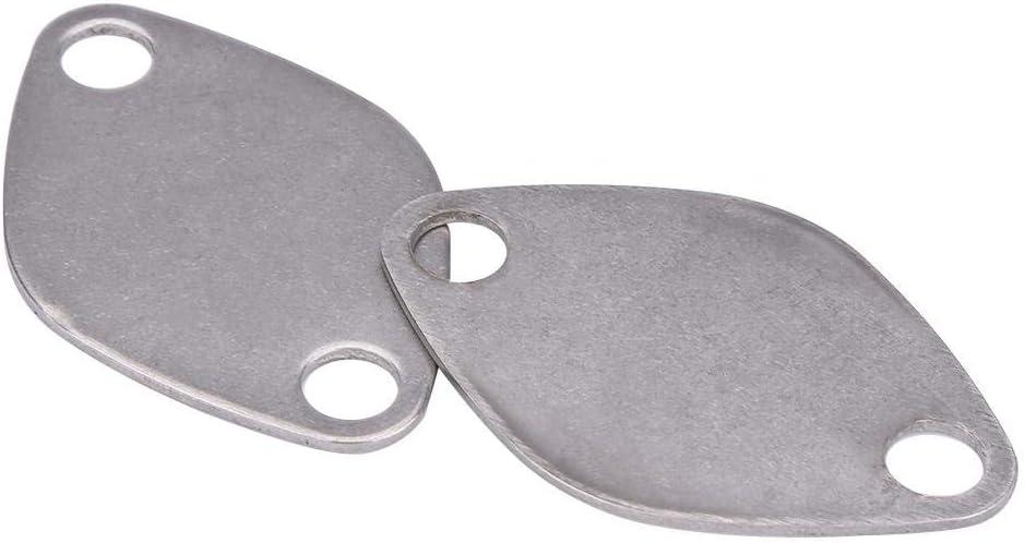 Car Vehicle Valve Blanking Block Off Plate Kit,Tbest Stainless Steel Valve Blanking Block Plate Kit