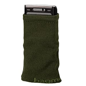 Hama Mobile Phone Sock, olive Algodón - Funda (olive, 65 x 15 x 85 mm)