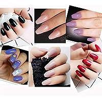 24 PC/Set Natural COFFIN Reusable Artificial Nail/Nails with Nail Glue. Nail Art