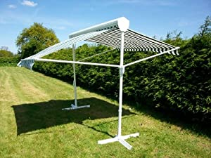 retractable sun shade free standing awning parasol co uk garden outdoors