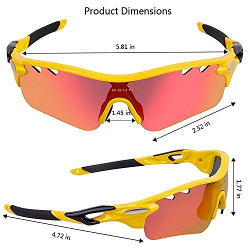 Color Azul Hombre Gafas de Sol Prueba Amarillo Libre Sol de Gafas antivaho al de para Montar Sol LBY polarizadas Gafas para y Viento Gafas para Aire Deportes de a 74xqnFOApw