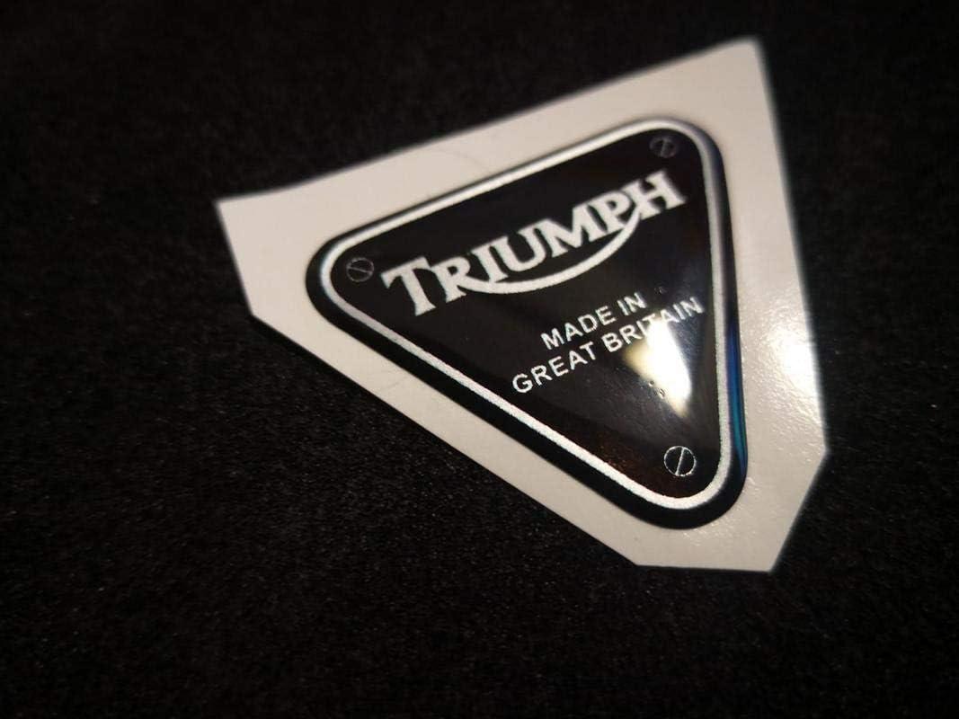 1 Adhesivo Resina 3D Triumph 30mm Silver Speed Street Triple Viejo 1050 955 675 765