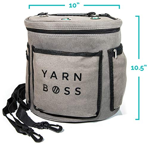 Yarn Boss Yarn Bag, Travel With Yarn and all Notions - Yarn Storage To Organize Multiple Projects and Keep Your Yarn Safe and Clean - Wide Grommets Stop Tangling for Best Crochet Bag or Knitting Bag by Yarn Boss (Image #7)