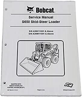 bobcat s650 skid steer loader repair workshop service manual - part number  # 6987168