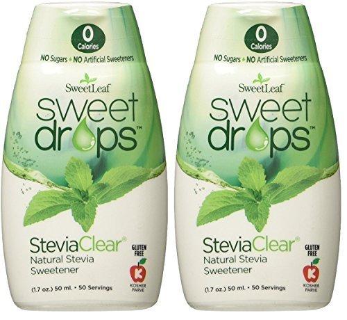 SweetLeaf Sweet Drops Liquid Stevia Sweetener, SteviaClear, 1.7 Ounce (Pack of (Natural Sweetener Recipes)