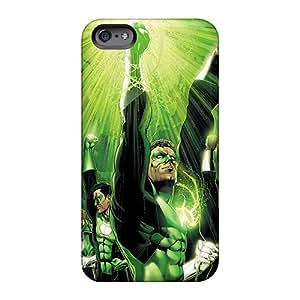 Hardphonecases Apple Iphone 6s Shock Absorption Hard Phone Case Allow Personal Design Vivid Green Lantern Corps Pattern [MTP1129jvTM]