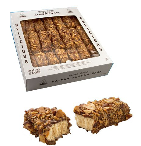 Joyva Chocolate Covered Almond Halvah 5 Pound Box