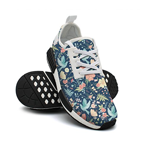 FAAERD with Flowers Mesh Shoes Sneakers Simple Cute Womens Breathable Sneaker Fashion Lightweight and Birds gInr0Ix