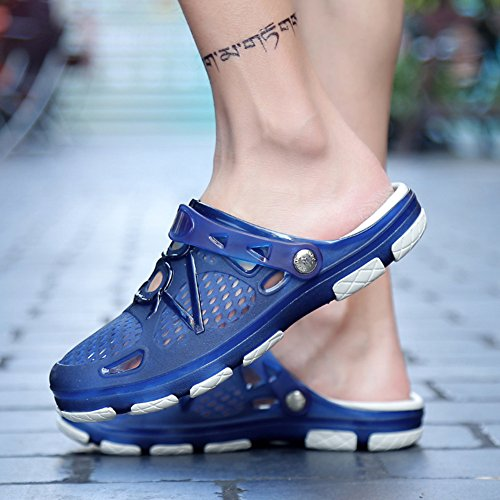 Fexkean Bleu Plage Sabots De Léger Pantoufles Chaussures 45 Respirant a Homme Eu39 Ete Sandales wC1ZwqUx