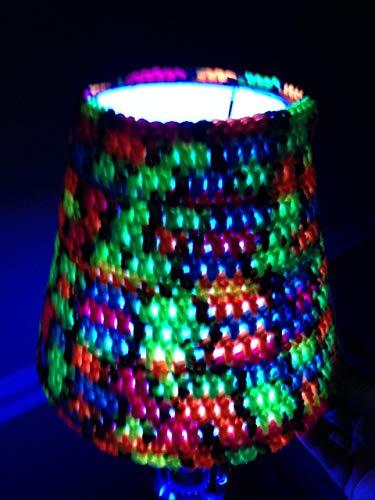 Lampshade Cover blacklight bulbs bedroom Halloween decorations parties handmade crochet