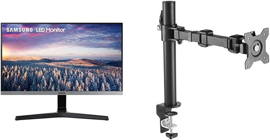 Dark Blue Gray LS24R350FHNXZA Samsung 24 FHD Monitor with Bezel-LESS Design
