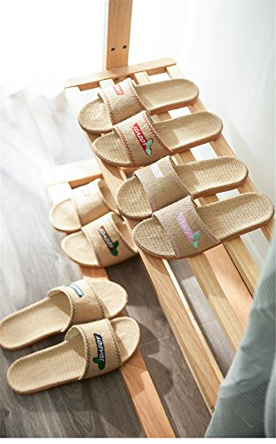 Odor Slippers Indoor Beach Couples Slippers Home Sweat Slippers Suction women Flax blue Floor Slippers Summer Men and TELLW Women Bedroom Proof Linen Linen Home IwZ1COIq4