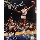 Steiner Sports NBA New York Knicks Jerry Lucas Signed Jump Hook Vs. Celtics 8x10 Photo
