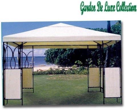 GARDEN DELUXE - Cenador Gazebo De Acero Y Tela Jardin Cuba: Amazon.es: Jardín