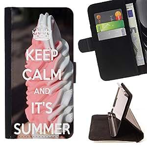 Dragon Case - FOR Apple Iphone 4 / 4S - I don't like waiting - Caja de la carpeta del caso en folio de cuero del tir¨®n de la cubierta protectora Shell