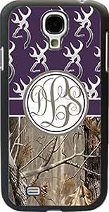 Dark Purple Buck Head #2 Country Girl Camo Monogram Case Cover For Samsung Galaxy S4