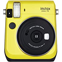 FUJIFILM 16496122 Instax(R) Mini 70 Instant Camera (Yellow)