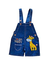BIGPETS Baby Little Boys Girls Casual Soft Denim Shorts Overalls Jeans Summer