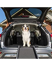 PetSafe Solvit UltraLite Bi-Fold Pet Ramp, 62 in, Portable Lightweight Dog and Cat Ramp, Great for Cars, Trucks and SUVs