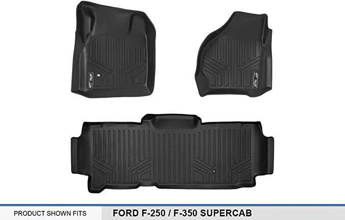 3D MAXpider Cargo Custom Fit All-Weather Floor Mat for Select Acura MDX Models Black Kagu Rubber